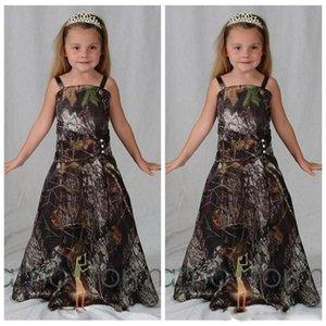 2020 i più nuovi Camo Abiti da sposa Per Western Country Foresta Matrimoni A Line senza spalline lunghi ragazze Pageant abiti convenzionali