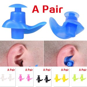 (A286X) Swimming Earplugs Soft Environmental Silicone Diving Water Sports Ear Plugs Pair
