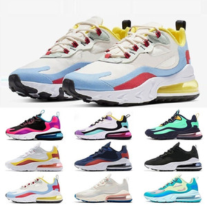 Nike Air Max 270 React boots Superstar Original Blanc Hologramme Irisé Junior Or Superstars Sneakers Originaux Super Star Femmes Hommes Sport Casual Chaussures 36-45