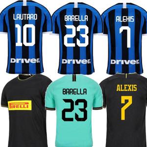 2019 İnter ERIKSEN Milan Lukaku ev 20. yıldönümü uzakta yeşil Siyah Erkekler futbol forması ALEXIS maillot de foot Futbol gömlek üniformalar 2020