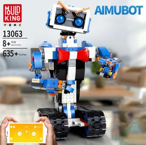 Technic 13063 635 + Robot Yapay zeka Yapı Taşları Bricks Robot Smart Tırtılı Programlama Adet Uygulama Kontrolü set Oyuncaklar