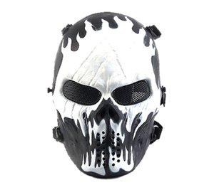 Tactical Gear Airsoft Mask Overhead Skull Skeleton Safety Guard Face Protection Outdoor Paintball Hunting Cs War Game Combat Protect Party