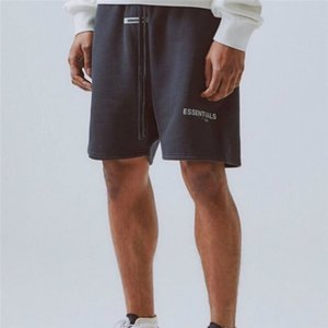 Hohe Qualität lose Fleece Sweat Shorts Justin Bieber Street Gestickte / Reflective Brief gummierte Patch vorne