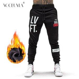 Voobuyla Plus Velvet Warm Running Jogging Pants Men Cotton Soft Joggers Sweatpants Long Trouser Gym Fitness Sport Training Pants T200326