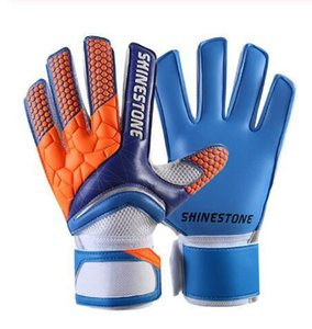 Men Latex Professional Soccer Goalkeeper Gloves Strong Finger Protection Football Match Gloves Sport Classic Glove Fast Shipping