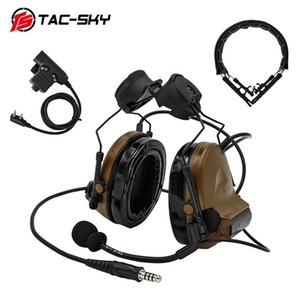 Tac-sky Comtac Ii Helmet Bracket Edition Tactical Headset And Tactical Ptt U94ptt And hunting Headset Peltor Comtac Headband Cb