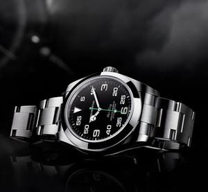 Завод прямых продаж 116900 40 мм Air черный циферблат молодая мода мужские часы автоматический механизм Корона мужские часы Наручные часы