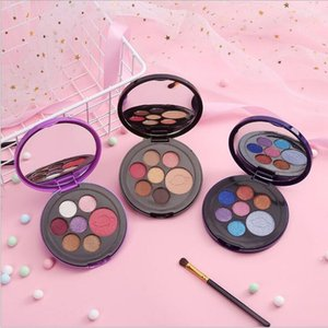new makeup Korea 7 color eye shadow pearl matte round palette 3 styles DHL free ship