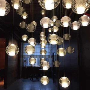 Northern European-Style Nord-European-Style cristallo della scala Meteor Shower Modern Luxury Glass Restaurant lungo Pendant Lighting