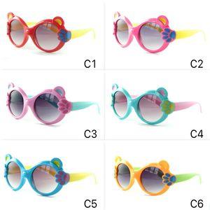 Мультфильм детские солнцезащитные очки маленький медведь когтя рама милые дети солнцезащитные очки UV400 красочные очки 6 цветов