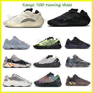 Wave runner 700, Kanye West runner 700 Tie dye Triple Black Carbon Running shoes Azael FW4980 Glow In The Dark Men Women Sneakers