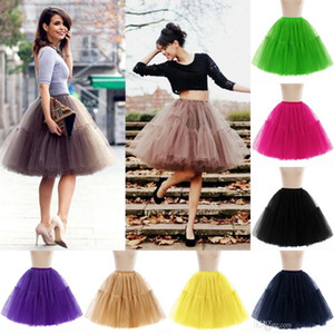 New Fashion Mariage 18 Colors Cheap Ball Gown Tulle 6 Layers Petticoat Underskirt Crinolines Petticoats for Wedding Dress CPA539