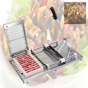2020 yüksek kalite Gıda Tipi Sığır Koyun Dize Aygıt Otomatik ipe Makinası Barbekü Şiş Yapay İçin barbekü Makinesi kebabı yapma