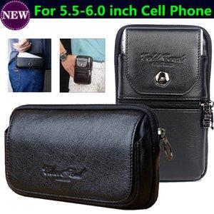 Bolsa de couro genuíno com zíper Clipe Cinto Bolsa Da Cintura Cruz Caso Capa para OUKITEL C12 Pro, Para OUKITEL WP2 Sacos de Celular Vertical