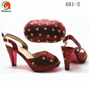 Dgrain High Quality Fashion Wholesale Italian Ladies Party Shoes And Matching Women Clutch Bag Set