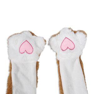 Autumn Winter Kids Boys Girl Hat Cute Ear Can Move Cartoon Christmas Elk Ear Glowing Comfortable Creative Interesting Hairy Toy