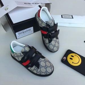 Yeni Desen moda Tasarımcısı Lüks Çocuk Ayakkabıları Unisex Çocuk Erkek Boş Zaman Giyim Baskı Çocuk ayakkabıları
