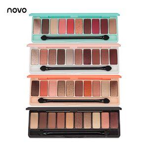 EB002 NOVO Fashion eyeshadow palette 10 Colors Matte EyeShadow لوحة عارية Glitter Eye shadow MakeUp Nude MakeUp set Korea Cosmetics