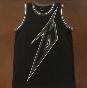 Rare Herren Schwarz 84 Metallica Ride The Lighting 30th Anniversary Basketball Jersey Stickerei Genähte Größe s-4XL oder benutzerdefinierten beliebigen Namen oder Nummer