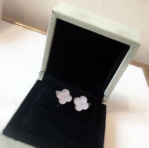 Boucles d'oreilles en diamant trèfle bijoux à quatre feuilles en argent Sterling 925 pour les femmes cadeau d'anniversaire de Noël Nouvel An