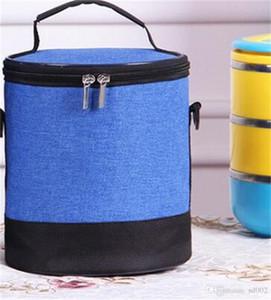 Pano fosco Lunch Box Bag isolamento térmico dobrável Enrole Cilindro alta Pacote Capacidade portátil Keep Warm Handbag Zipper 7 2emE1