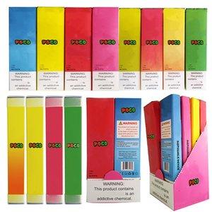 New POCO Einweg Vape Pen Geräte Pods Starter Kits 280mAh Akku POCO 1,3 ml Kapazität Patronen 8 Colros Schnelle Lieferung