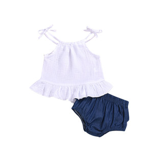 Toddler Kids Baby Girls Clothes Casual 2Pcs Sets Sleeveless Vest Tops+ Shorts Outfits