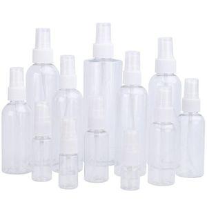 10ml 20ml 30ml 50ml 60ml 100ml recarregáveis de plástico fino da névoa garrafa de perfume composição desobstruída garrafas vazias de pulverização frascos de cosméticos PET