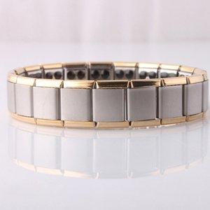Bracciale in acciaio inossidabile 80 Ge Magnetic Power Bracciale Energy Bracciale Energy Wristband per donna Uomo Gioielli con radioprotezione Drop Ship