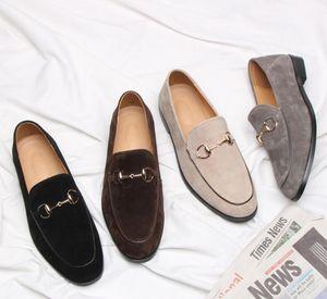 Förderung 2019 frühling Männer Samt Loafers Party hochzeit Schuhe Europa Stil Schwarz braun grau Samt Hausschuhe Fahren mokassins 38-44