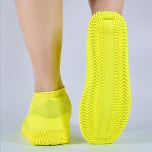 هلام السيليكون الحذاء غطاء مقاوم للماء المطر أحذية الأغطية القابلة لإعادة الاستخدام المطاط مرونة الجرموق للجنسين عدم الانزلاق مقاومة للاهتراء إعادة التدوير LXL256-A
