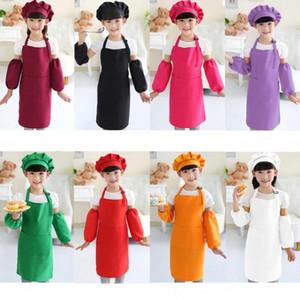 Çocuk Önlükleri Cep Zanaat Pişirme Pişirme Sanat Boyama Çocuk Mutfak Yemek Önlüğü Çocuk Önlükleri Çocuk Önlükleri 12 renkler Ücretsiz Kargo DHL