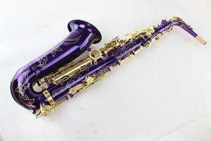 케이스와 독특한 보라색 표면 고품질 브랜드 명이 알토 색소폰 황동 색소폰 골드 래커 키 알토의 Eb 조정 색소폰 악기