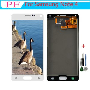 Para samsung galaxy note 4 lcd n910 n910c n910a n910f l9 display lcd touch screen digitador substitutos para galaxy note 4 display