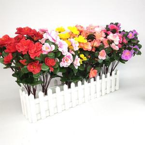 2 Adet Yapay Çiçekler Ucuz Buketler Simülasyon Rhododendron Aspir Düğün Bahçe Ev Dekorasyonu İpek Plastik Bitkiler