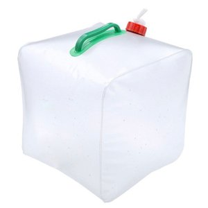 Bag Portable Hiking Camping Home Outdoor Folding Drip Water Container Bucket PVC Transparent 10L
