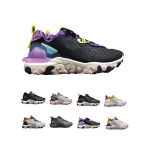 2020 NIKE REACT VISION D/MS/X Nueva Reaccionar zapatillas de deporte visión diseñador para las mujeres y los hombres corriendo calzado deportivo NSW GS Honeycomb Desert Oasis