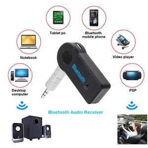 Universal 3,5 milímetros Bluetooth Car Kit A2DP sem fio Transmissor FM AUX Áudio Music Receiver Adaptador Handsfree com microfone para o telefone MP3 Retail Box