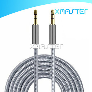 AUX Audio Cable Adapter Nylon Braided Stereo Cord Jack 3.5mm Male to Male Auxiliary Wire for Apple Android Phones Tablet Speakers xmaster