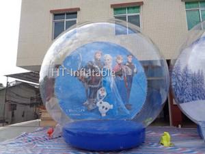 Ücretsiz Kapı Kargo Airblown Şişme Snow Globe 3m Çap Satılık Şişme Snow Globe Şişme Globe