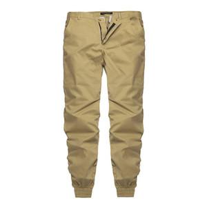 Negro de moda los pantalones lisos hombres Casual Pantalones Joggers delgadas del ajustado de ropa de hombre pantalones con pantalones elásticos del manguito de la Armada Hombre caliente de la venta