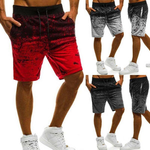 Marca New Verão Homens Gradiente carga Shorts Men Elastic Praia Sport calças Shorts bolso Masculina Shorts Homme Men Clothing