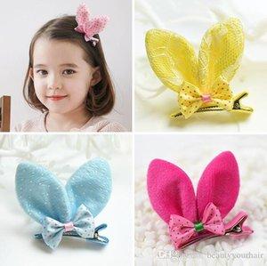 pelo precioso Niños Accesorios Rabbit Ears horquillas lindas Puntos de algodón pinza de pelo para niños niñas Hairwaear Barrettes