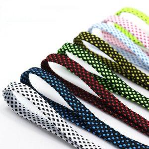 120cm 1pair plat noir et blanc Chaussure à lacets Sublimated impression Rubans Checkered Lacets Polyester Duty Sneaker Croisement