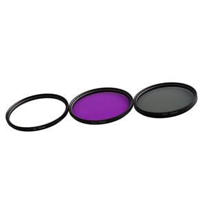 72 millimetri Multi Coated Glass Filtri Kit: UV + CPL + FLD Lens Filter per Canon