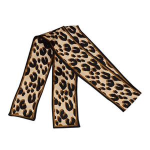 Luxus Seidenschals Neueste Leopard Gedruckt Stirnband Für Dame Frühling Sommer Frauen Krawatten Mode Tasche Zubehör