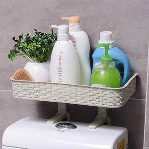 Inicio Baño de almacenamiento en rack rack multifunción fuerte adhesivo para artículos de tocador para el baño Estantes Organizador Accesorios venta caliente SH190920