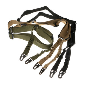 Fast shipping Tactical 2 Two Point Dual Sling Dual Bungee Strap Snap Hook Adjustable Quick Detach Release