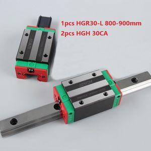 1 adet Orijinal Yeni HIWIN HGR30-800mm / 900mm doğrusal kılavuz / ray + 2 adet HGH30CA cnc router parçaları için doğrusal dar bloklar