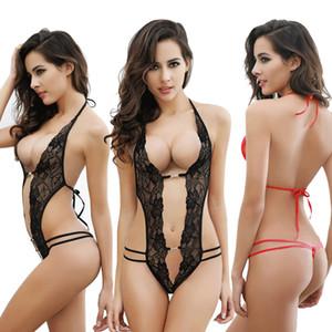 Kadınlar Sexy Lingerie pijamalar Body Stocking Dantel Teddy Elbise Babydoll Gecelik